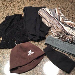 BUNDLE of 6 | Winter scarves, hat, headbands